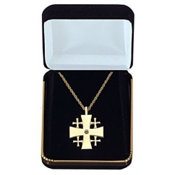 Jeweled Jerusalem Cross