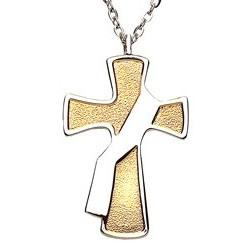Deacon's Cross 2-toned Pendant