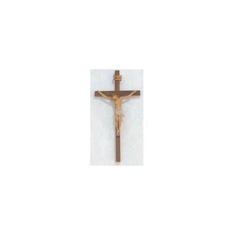 """10"""" Walnut Crucifix w/Italian Corpus"""