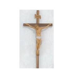 """12"""" Walnut Crucifix w/Italian Corpus"""