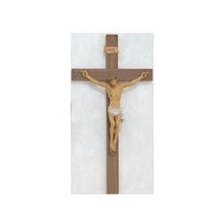 "24"" Walnut-Italian Corpus Crucifix"