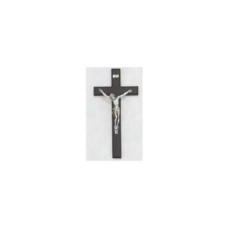 """10"""" Black Wood Crucifix w/Two Tone Corpus"""