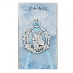 Guardian Angel Crib Medal - Boy