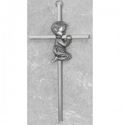 Boy Praying Cross