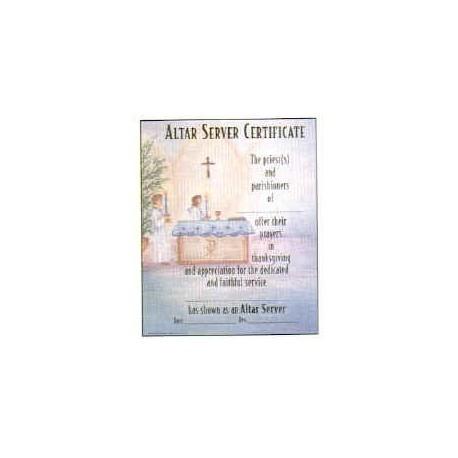 Altar Server Certificate