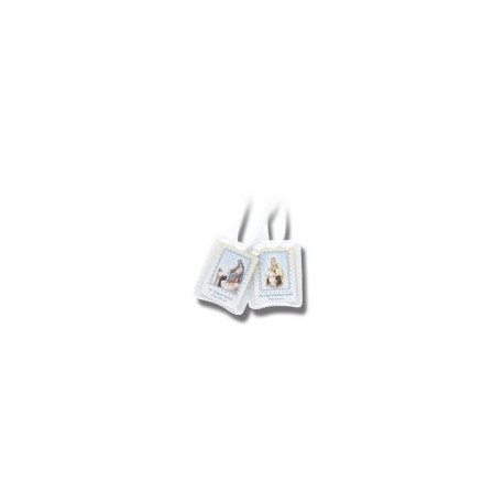 Scapular with White Cords/Plastic