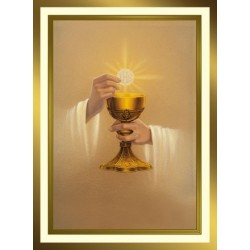 Golden Chalice Mass Card
