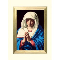 The Virgin In Prayer Mass Card