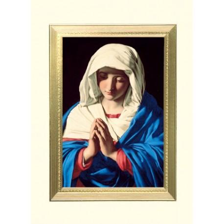 The Virgin In Prayer Mass Card