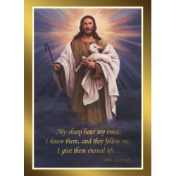 Eternal Life Mass Card