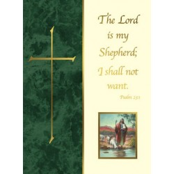 The Lord is My Shepherd Mass Card