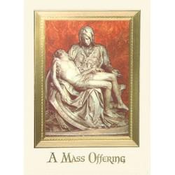 Pieta Mass Card