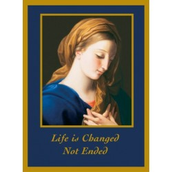 Madonna (Life is Changed, Not Ended) Mass Card
