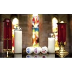 8 Day Glass Domus Christi Sanctuary Candles