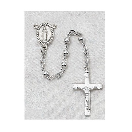 3mm All Sterling Silver Rosary