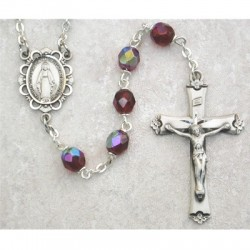 6mm Sterling Silver Garnet/January Rosary