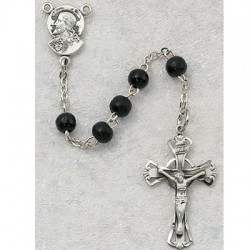 5mm Black Wood Children's Rosary