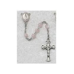 3mm Sterling Silver Pink Pearl Children's Rosary