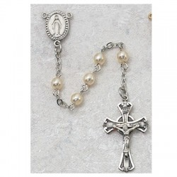 3mm Pearl Children's Rosary