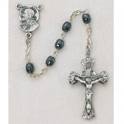 Sterling Silver Oval Hematite Children's Rosary