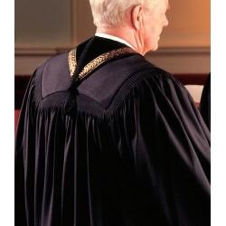 Wesley Clergy Robe - Black w/Gold Cross