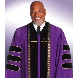 Wesley Clergy Robe - Purple
