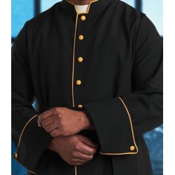 Cassock - Black w/Gold Cross