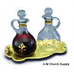Chi Rho Cruet and Tray Set