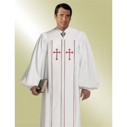 Cleric Clergy Robe - White w/Red Cross
