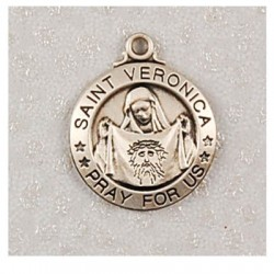 """St. Veronica Sterling Silver w/20"""" Chain - Boxed"""