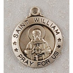 """St. William Sterling Silver w/20"""" Chain - Boxed"""