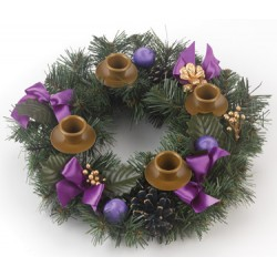 Advent Wreath (purple ribbon)