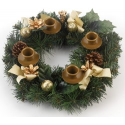 Advent Wreath (Pine Cone)