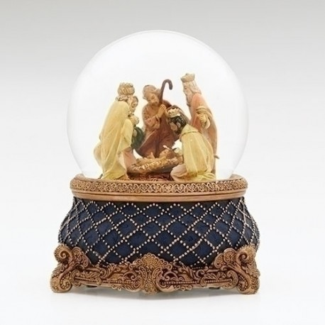 Nativity Glitter Dome-Musical