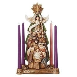 Nativity Under Star Candle Holder