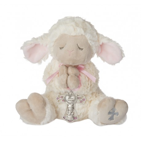 Serenity Lamb w/Crib Cross-Girl