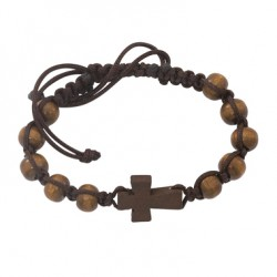 Dark Brown Cross Bracelet