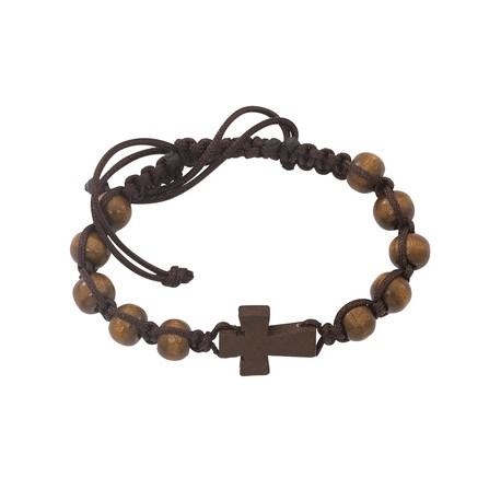 Dark Brown Cross Bracelet