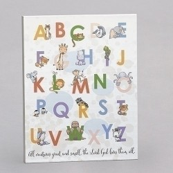 Animal Alphabet Plaque