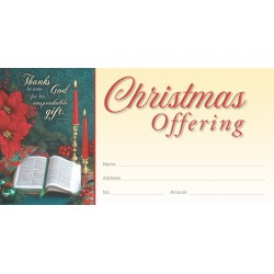 Christmas Gift Offering Envelope