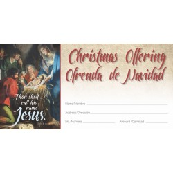 Christmas Old Masters Bilingual Offering Envelope