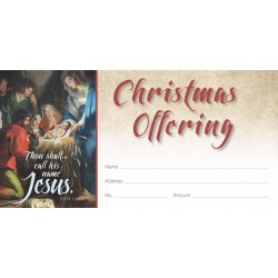 Christmas Old Masters Offering Envelope
