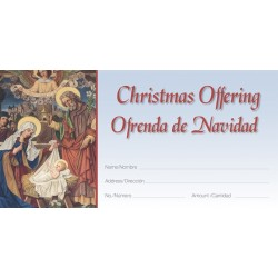 Christmas Old Masters Bilingual Offering Envelopes