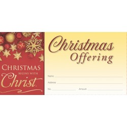 Christmas Begins with Christ Offering Envelopes