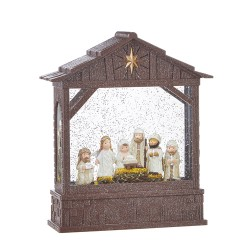 Knit Nativity Lighted Water Creche