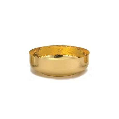 24K Gold Plated Hammered Open Ciborium - 275 Host