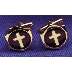 Cuff Links - Inlaid Cross