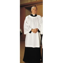 Surplice - Clergy Comfort Round Neck Poly Cotton