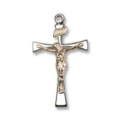Two-Tone GF/SS Maltese Crucifix Pendant