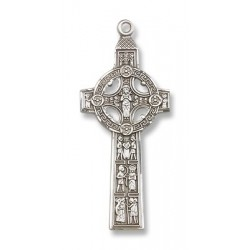 Sterling Silver Scriptures Cross Pendant